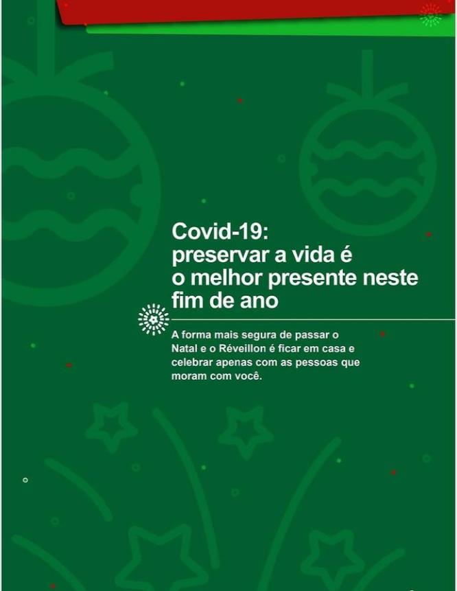 Covid-19: preservar a vida é o melhor presente neste fim de ano.