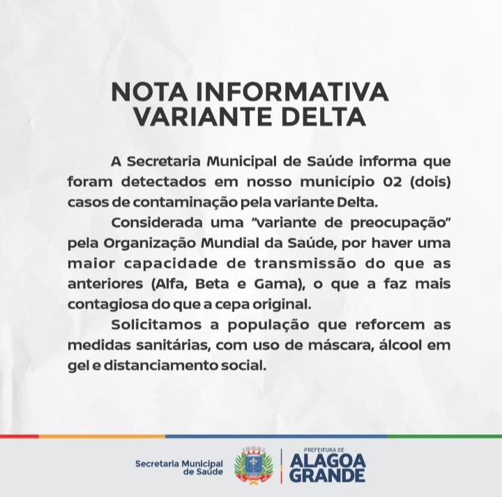 Nota Informativa – Variante Delta